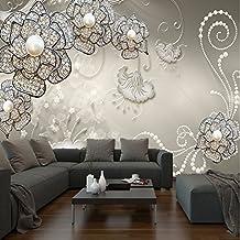 Papel Pintado Para Pared Imágenes–Papel pintado fotográfico de 3d Modern Flores joyas KN de 1115, XL 350x245 cm 7-Bahnen