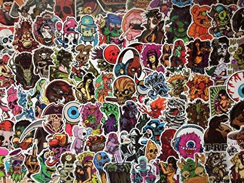 0,100) Stücke, Rock, dunkel, Punk, Blut, Horror, Terror, Todeskopf, Skateboard, sexy, sticker (20) ()
