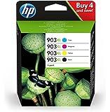 HP 903XL Pack de 4 Cartouches d'encre Noir/Cyan/Magenta/Jaune Authentiques (3HZ51AE)