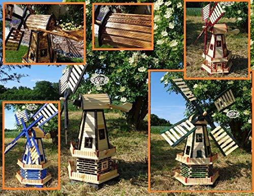 Gartenwindmühle 130 cm, zweistöckig - 7
