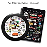 #6: Mc Sid Razz Official Friends - Tv Series, Gift Set/Birthday Gift/Return Gift - Combo Pack of 2 - Doodle Table/Wall Clock + Infographic Notebook, licensed by Warner Bros, USA