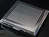 New Metal Cigarette Case Box Holder Holds 20 Cigarettes Silver (SM132)