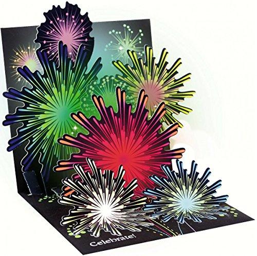 3D Light Up Grußkarte von bis mit Papier – Feuerwerk