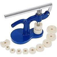 MMOBIEL - Kit Complet (13 pièces) Compatible avec réparation de Montres, avec Potence/Presse d'horloger et 12 Tasseaux…