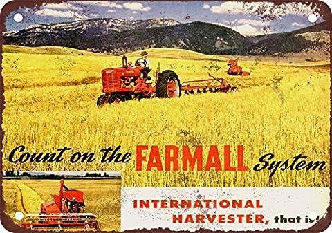 1946International Harvester farmalls Look Vintage Reproduction Plaque en métal 17,8x 25,4cm