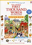Telecharger Livres First thousand words In english Sticker book (PDF,EPUB,MOBI) gratuits en Francaise