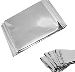"Emergency Mylar Blankets - 84"" X 52""(4 Pack)"