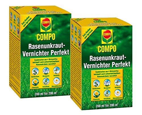 COMPO Rasenunkraut-Vernichter Perfekt 400 ml Vorteilspackung (2× 200ml)