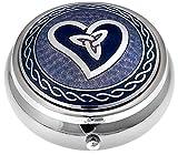 Pill Box in Celtic Trinity Heart Design. (Purple)