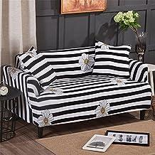 Fastar funda de sofá cubre /protector sofá de 1/2/3 plazas - Material de tela antideslizante elástica (3 plazas /190-230cm, Rayas)