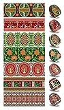 Ukrainisches-Kunsthandwerk, Ostereier Schrumpffolie. Tradizionelle Motive Simetri. Nr.4 reicht für 7 Eier