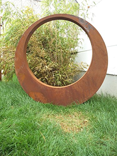 Edelrost Gartenstecker Rost Gartenskulptur aus Metall Garten Figure Glück Symbol Gartendeko H80*80*5 cm 101513 80 Symbol