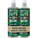 Faith in Nature Aloe Vera Shampoo and Conditioner, 400 ml (Packaging May Vary)