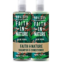Faith in Nature Natural Aloe Vera Shampoo and Conditioner Set, Rejuvenating, Vegan and Cruelty Free, Parabens and SLS…