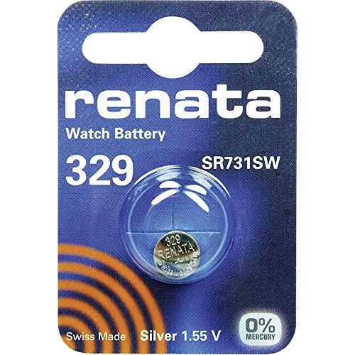 329 (SR731SW) Batteria Pulsante / Ossido D'argento 1.55V / per