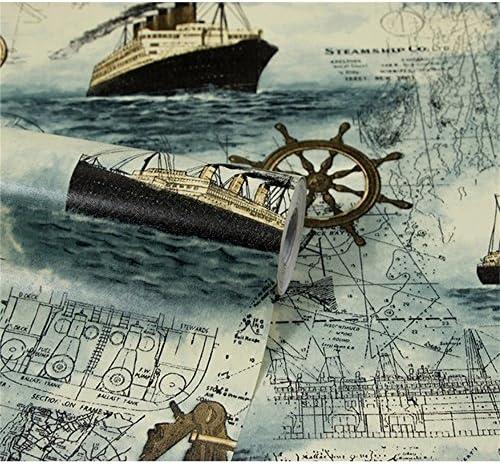 RFGTYBDD Adorable Style rétro cartes nautiques motif papier peint pour pour pour Wall Art Sticker Decor B07GRSNYWG | Dernière Arrivée  83bc8e