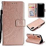 Roreikes iPhone X H�lle,iPhone 10 H�lle, Brieftasche PU Handyh�lle Flip Case Bild