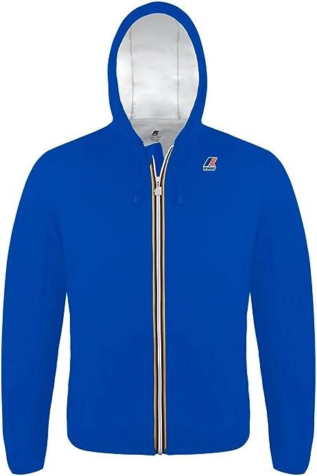Giubbino K-Way uomo jacques nylon jersey blue avio ss19