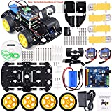 Kuman Professional WIFI Smart Robot Model Car Kit Videokamera for Raspberry Pi 3 RC Fernbedienung Robotik Elektronische Spielzeug Spiel Controlled by PC Android ISO App mit 8G SD Card (nicht enthalten Raspberry Pi) SM9 (SM9 Robot kit)