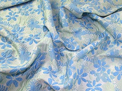 Floral Gewebe der Bubble Textur Brokat Kleid Blau-Meterware Blue Bubble Kleid