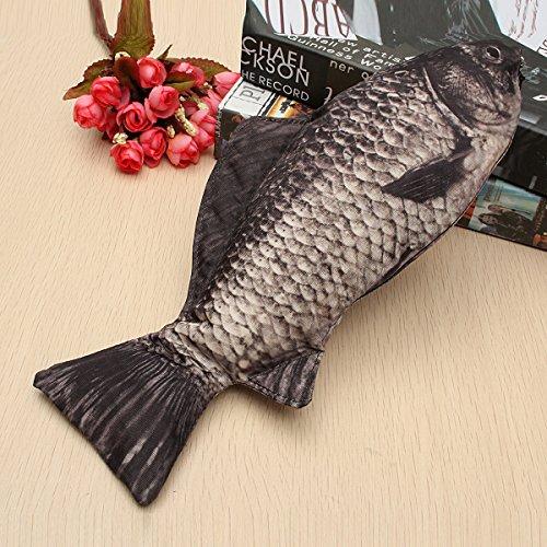 Tutoy Silber Karpfen Real Fische Wie Bleistift Fall Make-Up Tasche Mit Reißverschluss Funny Gift