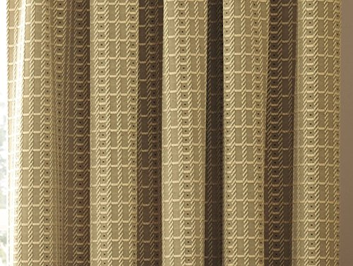 Marlowe Woven Jacquard Pencil Pleat Lined Curtains, Natural, 64 x 90 Inch