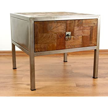 Asia Wohnstudio 'Modern Industrial Design' Bedside Table Reclaimed Enchanting Modern Industrial Design Furniture