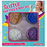 GirlZone: Glitter Gels Makeup For Girls, Great Christmas Birthday Gift Present Gifts For Girls Age 4 5 6 7 8 9 10 11 12 Years Old