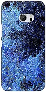 The Racoon Lean printed designer hard back mobile phone case cover for HTC 10. (autumn blu)