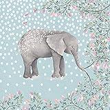 Artland Qualitätsbilder I Wandtattoo Wandsticker Wandaufkleber UtArt Glücklicher Elefant -Illustration Tiere Wildtiere Elefant Illustration Blau C4ZW