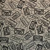 Sweat-Stoff 'Evan - Kassetten' grau meliert / sehr hohe Qualität /...