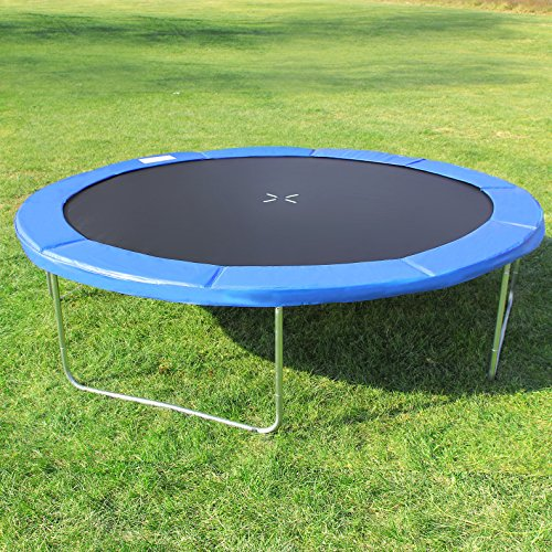 Songmics Trampoline Pad Replacement EPE Foam Thick 15 mm Durable PVC Cover Blue 10FT STP10FT