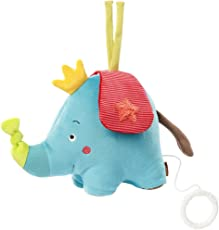 Fehn Spieluhr Aufzieh-Spieluhr mit herausnehmbarem Spielwerk zum Aufhängen, Kuscheln und Greifen, für Babys und Kleinkinder ab 0+ Monaten