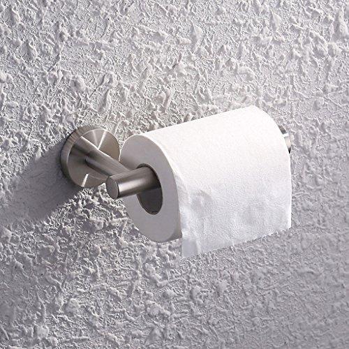 A Serviette de toilette en acier inoxydable Toilette de salle de bains Papier hygiénique Rouleau Rouleau de papier Rouleau Tissu antirouille Boîtes (163 * 80mm)