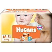 Huggies New Dry Medium Size Diapers - 32 Counts