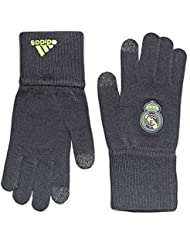 adidas Real Gloves - Guantes unisex, color negro / lima / gris, talla M