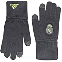 Adidas Real Gloves - Guantes Unisex, Color Negro/Lima / Gris, Talla L