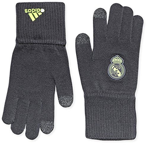 adidas Real Gloves - Guantes unisex, color negro / lima / gris, talla L