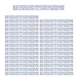 Mehrondo 30 Stück Hellgraue Filzstreifen Rohlinge FS209HG, 250x25x3 mm vorgeschnitten — ideal zum kreieren von Schlüsselanhänger und Schlüsselband
