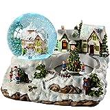 WeRChristmas-Villaggio cangiante-Palla di neve decorazione di Natale, in plastica, colore: multicolore, 155 cm