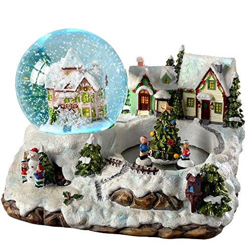 Werchristmas-villaggio cangiante-palla di neve decorazione di natale, in plastica, colore, 155 cm