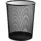 YONGMEI Abfalleimer - Metallmaschenmülleimer-Küchenbadezimmer-Haushaltsreinigungseimerbürggrünpapierkorb Living Ware Möbel (Farbe : SCHWARZ, größe : L)