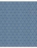 Dekostoff Gardinenstoff Vorhangstoff Meterware für Gardinen, Vorhänge, Kissen, etc. - Richmond Blickdicht Ornamente Blau - Muster