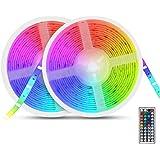 Auelek Ledstrip, 10 m, 5050 RGB, 300 leds, IP65, waterdicht, flexibel, meerkleurig, op maat te snijden, neondecoratie, ledstr