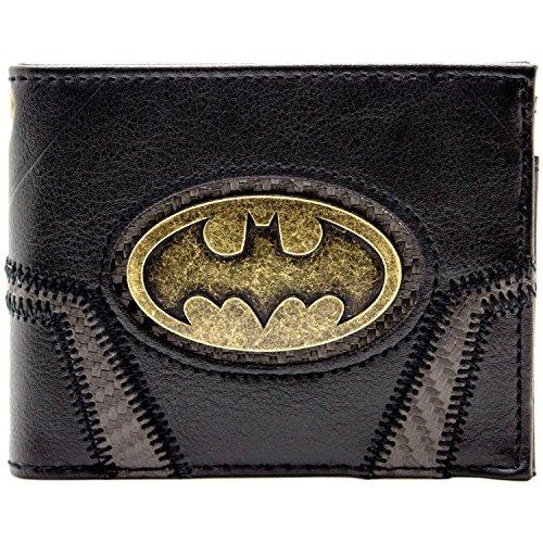 DC Batman Badge d'or Suit Up Noir Portefeuille