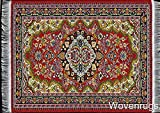Red Woven Rug Mouse Pad - Persian Style ...