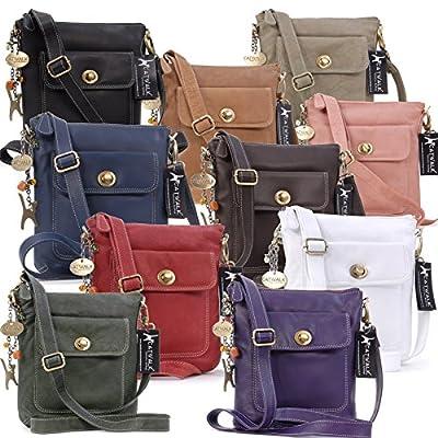 Catwalk Collection Handbags - Cuir Véritable - Petit Sac à Main/Sac Bandoulière/Sac Besace/Messenger/Sac Porté Croisé - Femme - LAURA