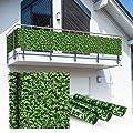 Balkon Sichtschutz 6x0,9m Buchsbaum Look Balkonsichtschutz Balkonverkleidung Sichtschutzmatte Balkonverkleidung Balkonbespannung von Wohnstyle24 auf Gartenmöbel von Du und Dein Garten