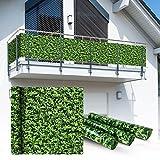 Balkon Sichtschutz 6x0,75m Buchsbaum Look Balkonsichtschutz Balkonverkleidung Sichtschutzmatte Balkonverkleidung Balkonbespannung