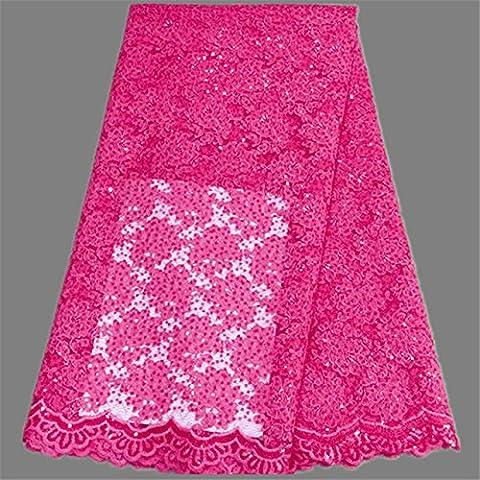 Nuovo tessuto di pizzo Francese Eccellente nozze con ricami floreali e paillettes africani stoffa netta (Dobby Pizzo)